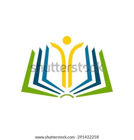Open book  logo. - stock vector