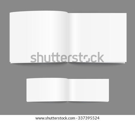 Open book page template. Ready for a content - stock vector