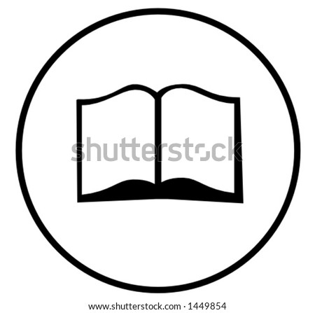 open book symbol - stock vector