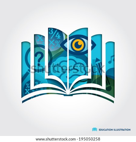open book symbol education concept vector illustration - stock vector