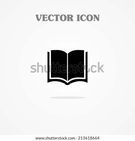 Open book - Vector icon - stock vector