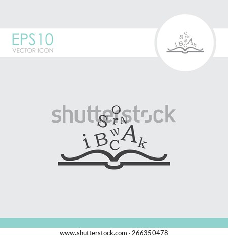Open book vector icon. - stock vector