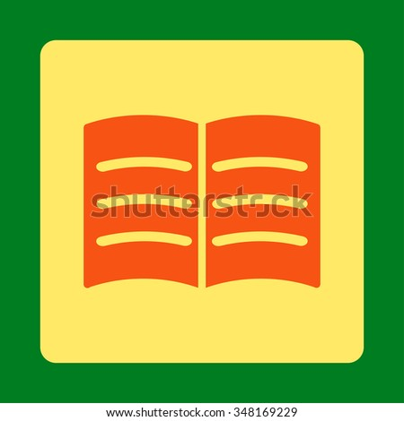 Open Book Vector Icon Style Flat Stock Vector 348169229 - Shutterstock