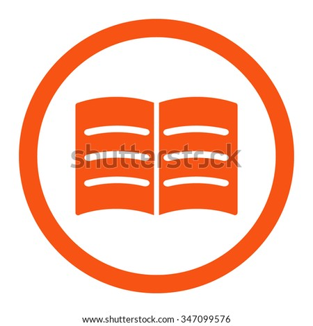 Open Book Vector Icon Style Flat Stock Vector 347099576 - Shutterstock