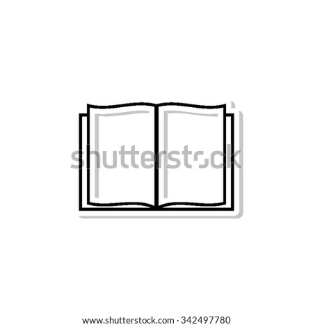 Open book - vector icon with shadow