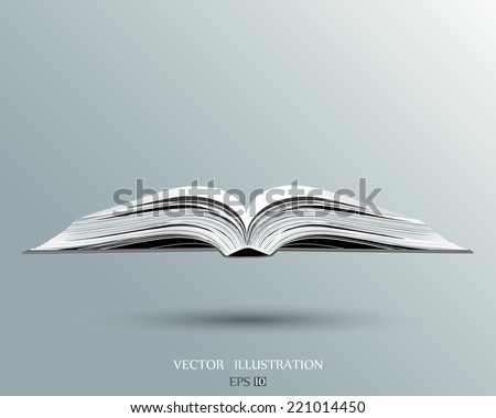 open book. Vector illustration.  - stock vector