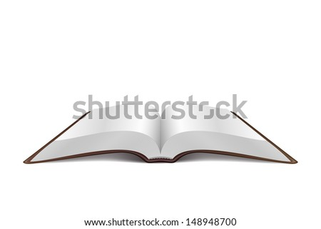 Open Book Vector Illustration isolated on white background - stock vector
