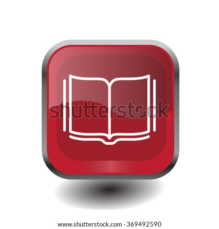 Open book - Vector illustration, line icon