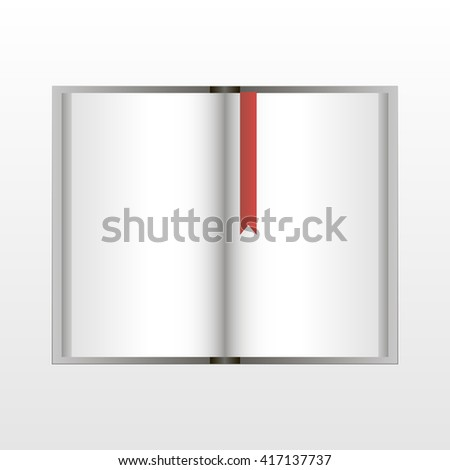 Open book with a bookmark