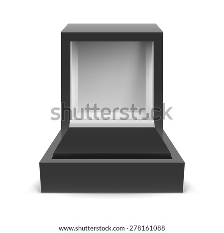 Open box for jewelry on a white background - stock vector