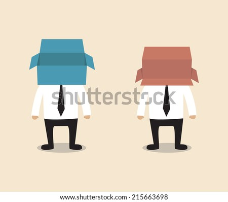 Open box or Overturned box - stock vector