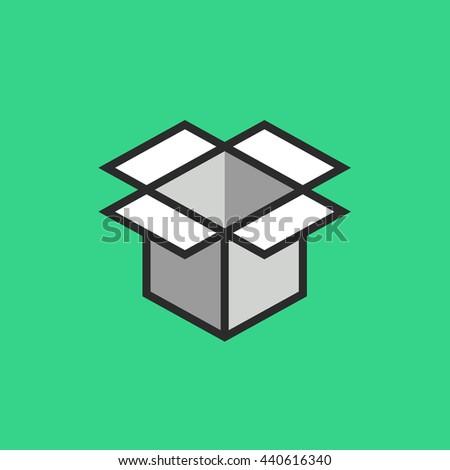 Open Box Symbol Symbol Packaging Eps Stock Vector 440616340
