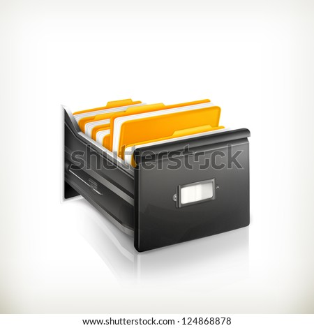 Open Card Catalog - stock vector