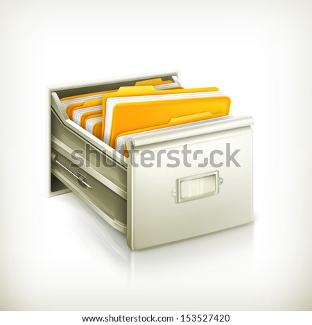 Open card catalog, vector icon - stock vector