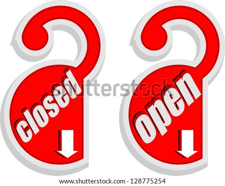 open, closed icon vector - stock vector