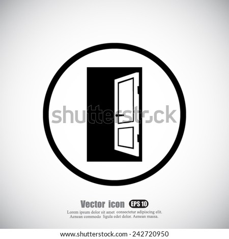 Open Image Icon Open Door Vector Icon