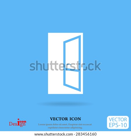 open door vector icon - stock vector