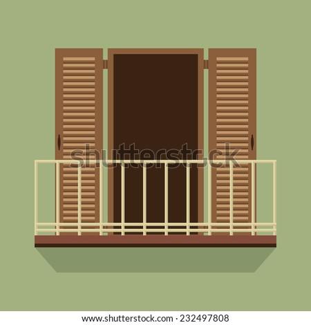 Balcony stock vectors images vector art shutterstock for Balcony vector
