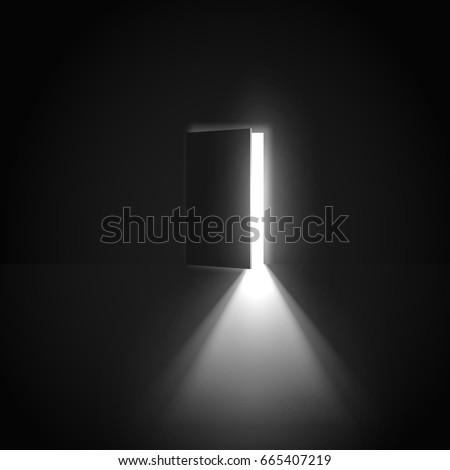 Open Door Light Going Through It Stock Vector 665407219 Shutterstock
