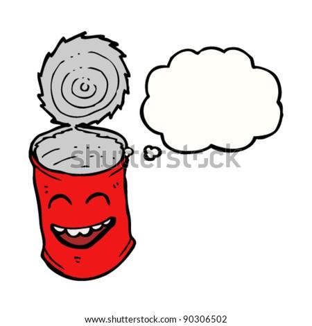 open food tin can cartoon - stock vector