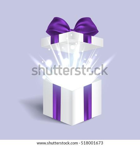 Open gift box light effects vector 518001673 open gift box with light effects vector illustration negle Images