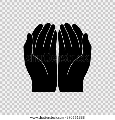 cupped hands vector stock images, royalty-free images & vectors
