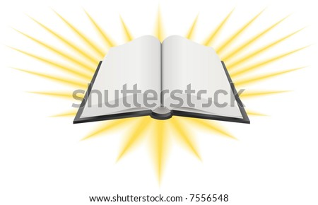 Open Holy Book Illustration.  A Vector illustration of an open holy book such as the Bible, Torah or Koran