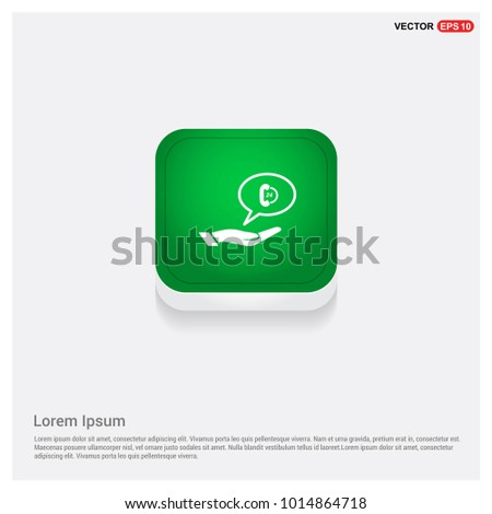 Open 24 hours icon Green Web Button