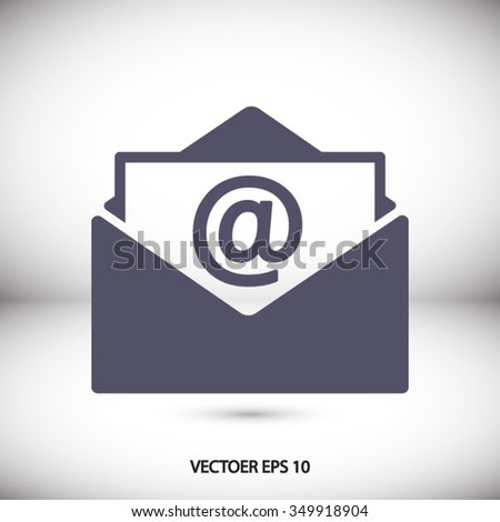 Open Mail Icon One Set Web Stock Vector 354045185 - Shutterstock