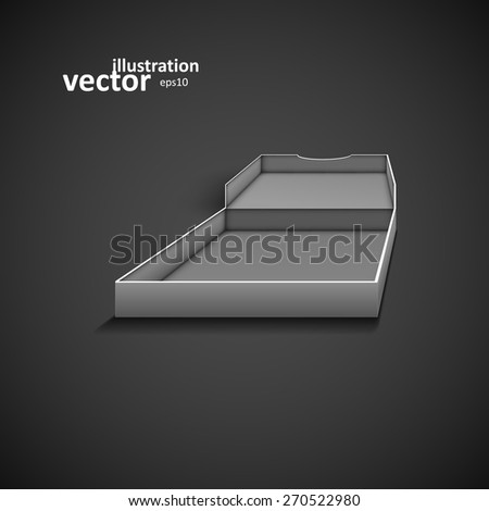 Open packing box for pizza, vector graphic design, stylish concept eps10 - stock vector