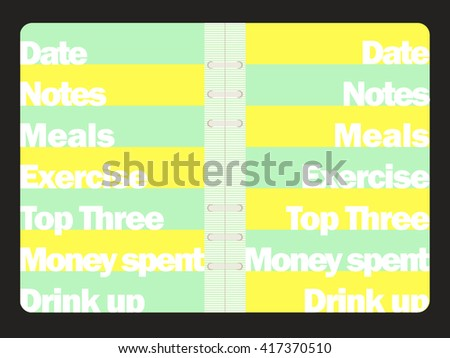 Lets Cook Weekly Menu Daily Planner Vector 326543654 – Editable Shopping List Template