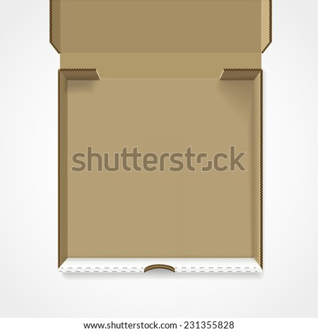 open pizza box template isolated on white background  - stock vector