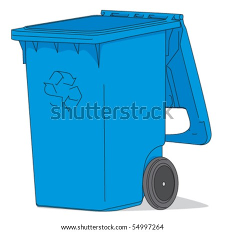 Open Recycling bin - stock vector