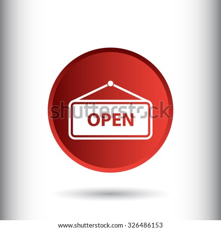 Open sign icon, vector illustration. Flat design style for web and mobile.