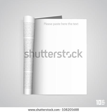 Open the paper journal - stock vector