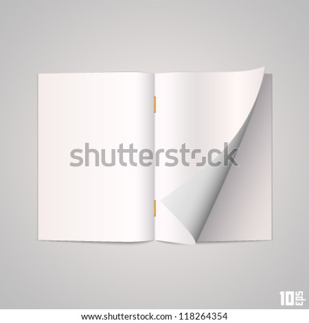 Open the paper journal - stock vector