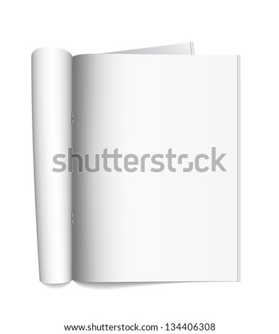Open the paper journal. Vector illustration. - stock vector