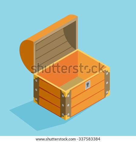 how to draw an open treasure chest