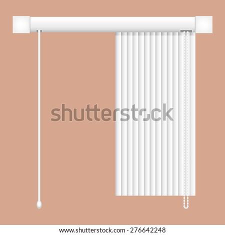 open vertical blinds - stock vector