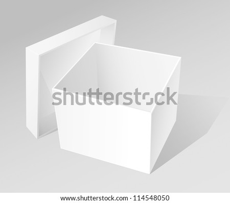 Open White Box - stock vector