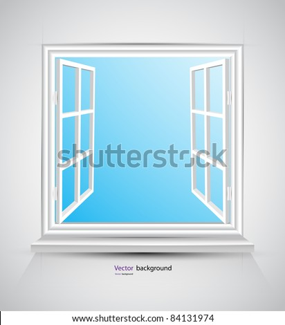 Open window - stock vector