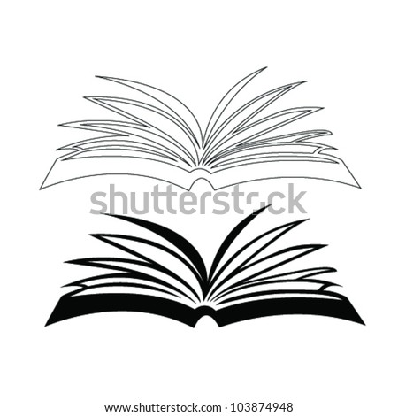 opened book vector illustration - stock vector
