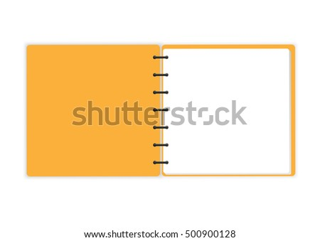 Opened Spiral Sketchbook isolated on white background vector design.