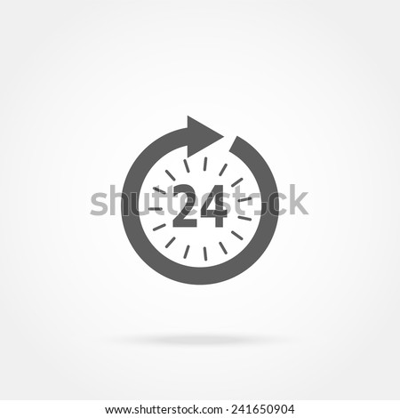 opening hours icon - stock vector