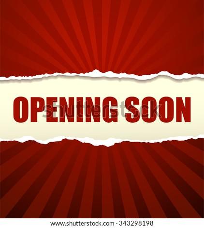 Opening soon banner - stock vector