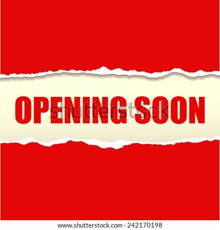 Opening soon banner vector - stock vector