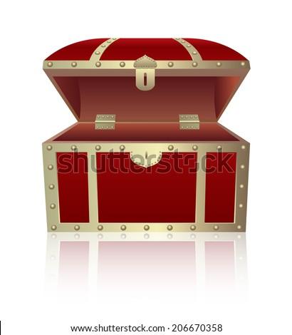Opening  treasure box - stock vector