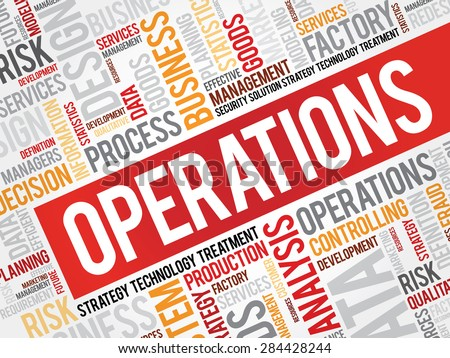 Operations word cloud, business concept - stock vector
