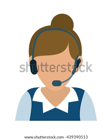 Operator woman avatar. Customer service. vector graphic