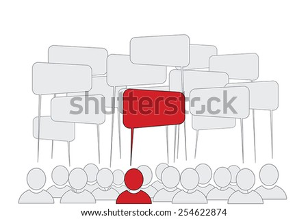 Opinion Leader - Business Men Icons - stock vector